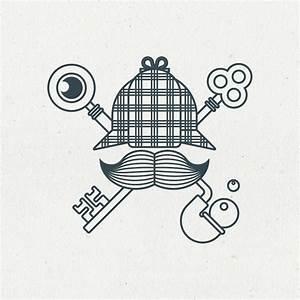 Sherlock Holmes Escape Game Logo EHOP Design LogOs OF