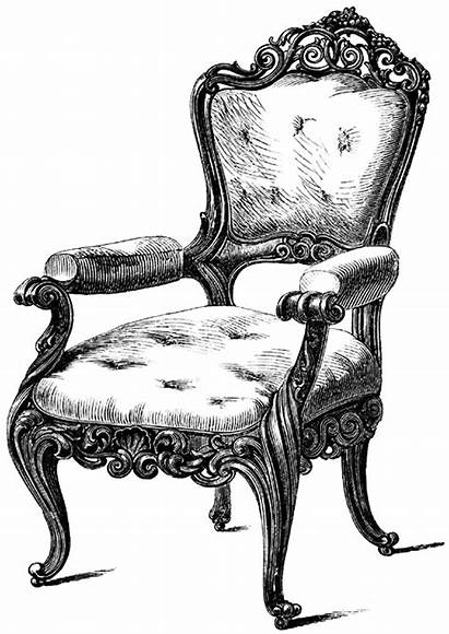 Chair Digital Furniture Stamp Stamps Clipart Louis