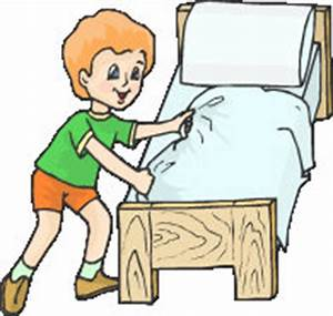 How to draw making the bed