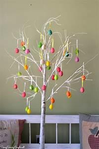Primitive White Branch Easter Egg Tree Decorative Idea