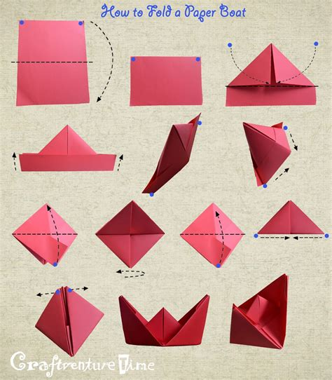 How To Make A Really Easy Paper Boat by How To Fold A Paper Boat חטיבת חומרים