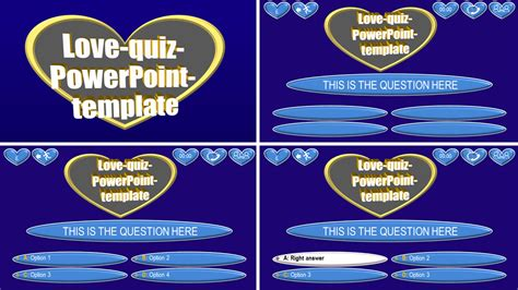 powerpoint quiz template love  themes
