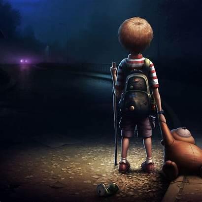 Lonely Boy Wallpapers Cartoon Sad Alone Dead