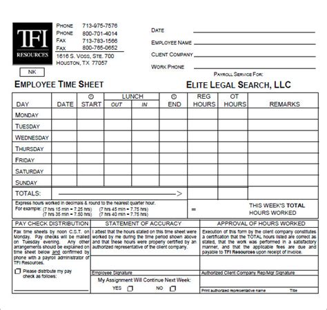 sample attorney timesheets  word