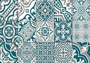 Set De Table Carreau De Ciment : set de table carreaux de ciment madeleine bleu canard ~ Teatrodelosmanantiales.com Idées de Décoration