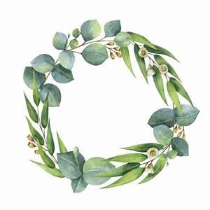 Royalty Free Floral Wreath Watercolor Clip Art, Vector ...