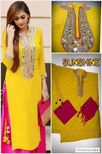 Fabulous Yellow Mirror Work Design Long Kurti 505545