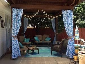 Outdoor Vorhänge Ikea : love how they used long shower curtains and ikea dignitet curtain rod wire f r mein zuhause ~ Yasmunasinghe.com Haus und Dekorationen