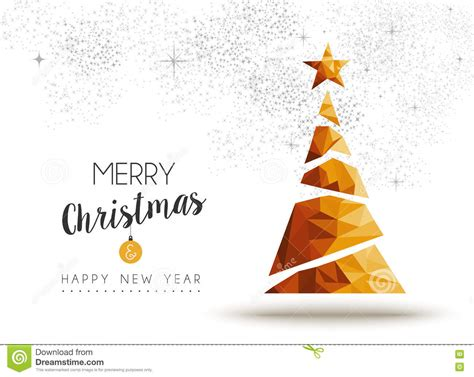 Thousands of new merry christmas vector resources are added every day. Gold Christmas And New Year Pine Tree Low Poly Art Stock ...