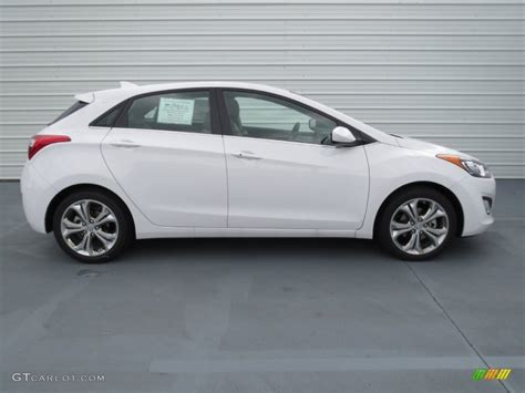 White Hyundai Elantra by Monaco White 2013 Hyundai Elantra Gt Exterior Photo