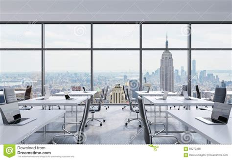 with a city view workplaces in a modern panoramic office new york city Office