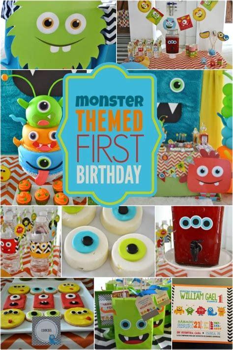 monster themed boys st birthday spaceships