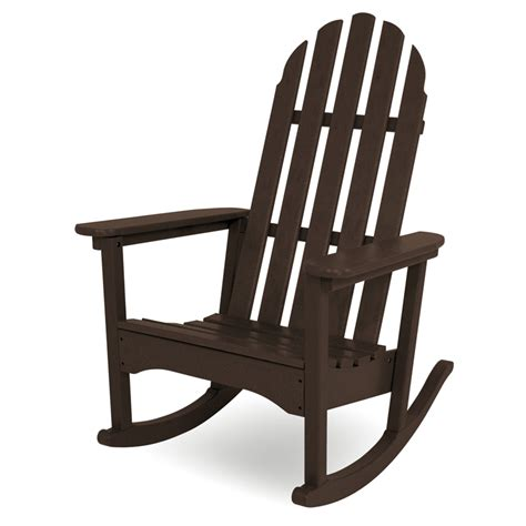 polywood rocking chairs polywood classic adirondack rocking chair adirondack