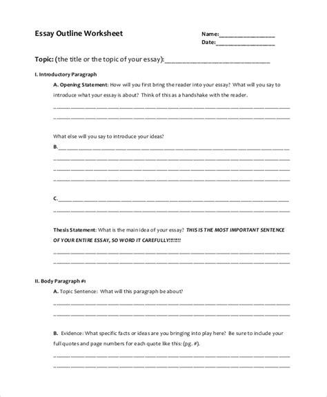 essay outline   samples   word