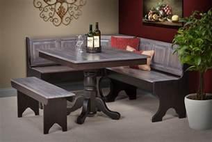 Corner Kitchen Table Set by Corner Breakfast Nook From Dutchcrafters Amish Furniture