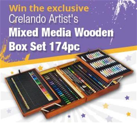 win  exclusive crelando mixed media set