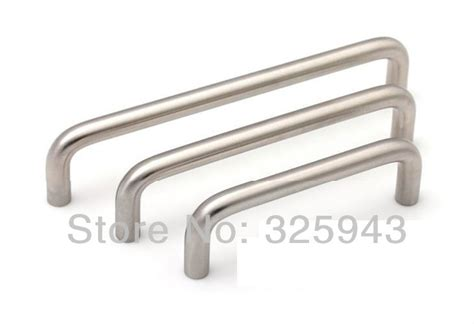 metal kitchen cabinet handles 2pcs 128mm simple european stainless steel kitchen 7457