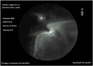 The Orion Nebula – M42 and M43 | Astronomy Sketch of the Day