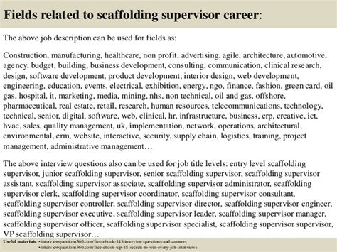 top  scaffolding supervisor interview questions  answers