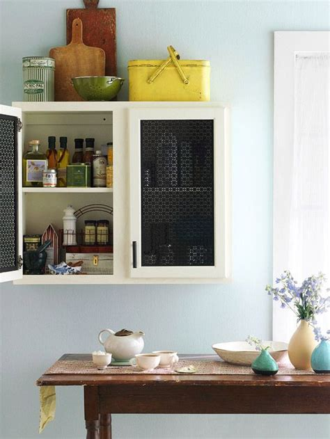 Cupboard Inserts For Kitchen by Kitchen Cabinet Makeover Metal Inserts Get Standout