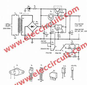 Lm317 2n3055 3a Variable Power Supply