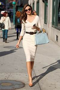 Beige Sheath Dress With Belt u0026 High Heels Pumps Pictures Photos and Images for Facebook ...