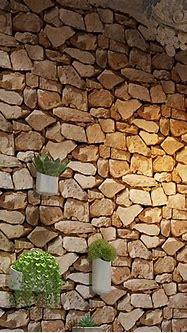 Waterproof Vintage 3D Stone Effect Wallpaper Roll Modern ...