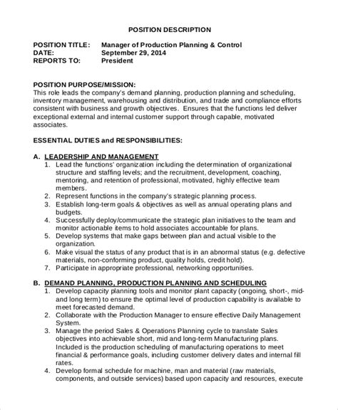 Inventory Planning Manager Resume by Inventory Manager Description Inventory Management