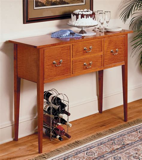 classic sideboard woodworking project woodsmith plans