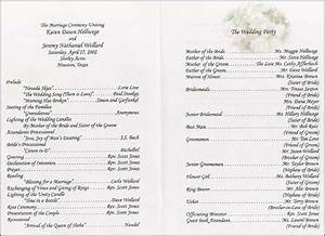 Wedding collection nowadays wedding program wording for Sample of wedding programme