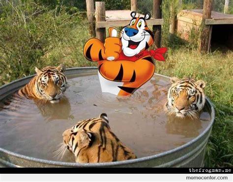 Tony The Tiger Meme - tony the tiger hot tub time machine by ben meme center