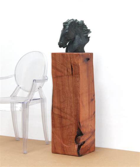 Sculpture Pedestal by Reclaimed Timber Pedestal Sculpture Stand Display