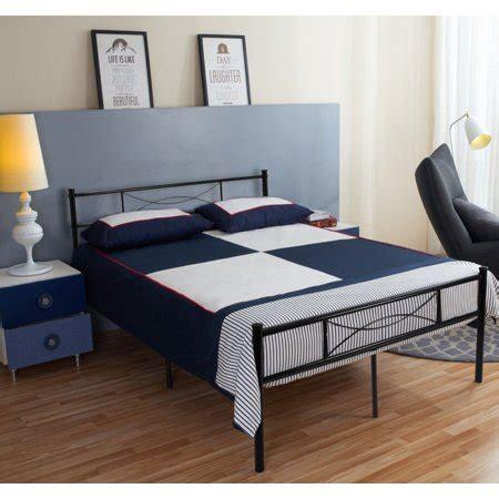 queen size metal bed frame bedroom mattress platform