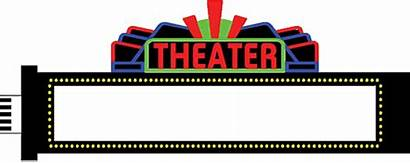 Marquee Theater Sign Clipart Blank Cliparts Clip