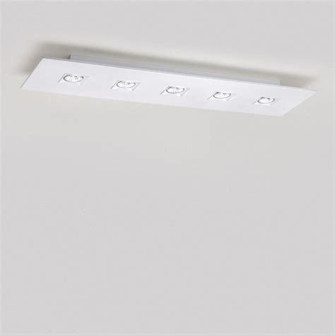 polifemo 5 light rectangular ceiling flush mount modern