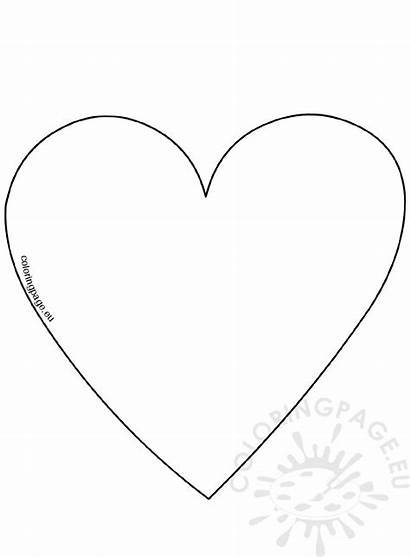 Heart Template Coloring Valentine