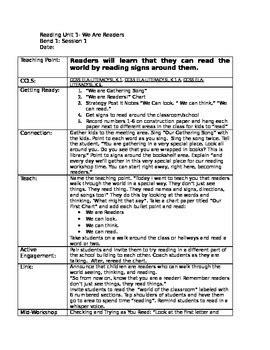 literacy lesson plans preschool kindergarten s college tc reading lesson plans 481