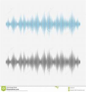 Vector Sound Waves Music Digital Equalizer Stock Vector