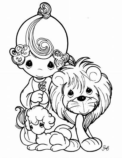Precious Moments Coloring Pages Printable Animals Bible