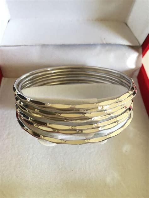 10k White Gold 7 Pieces Set Of Bangle Bracelet  Small. Inclusion Diamond. Costume Jewelry Necklaces. Raining Diamond. Aries Pendant. Print Watches. Diamond Earrings. Promise Engagement Rings. Forever Diamond