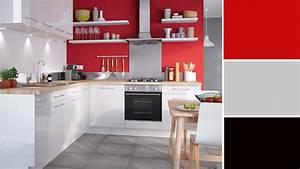 quelle couleur choisir pour une cuisine etroite With meuble de cuisine en bois rouge 2 idee couleur cuisine la cuisine rouge et grise