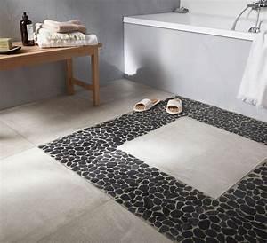 Sol Salle De Bain : pique carrelage salle de bain avec sol galet salle de ~ Dailycaller-alerts.com Idées de Décoration