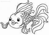 Coloring Pages Goldfish Printable sketch template