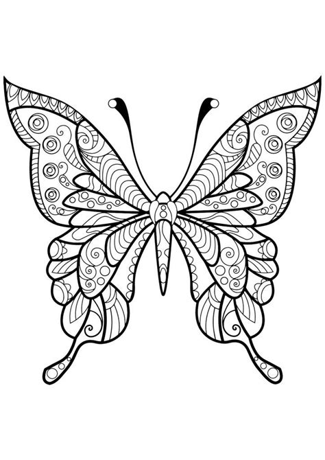Butterfly Coloring Pages for Adults | Butterfly coloring