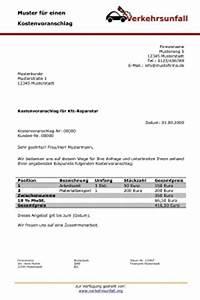 Versicherung Abrechnung Nach Kostenvoranschlag : kostenvoranschlag f r die autoreparatur ~ Themetempest.com Abrechnung