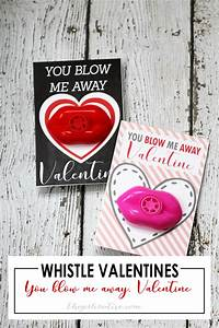 """Whistle Valentines """"You Blow Me Away"""" - The Girl Creative  Valentines"""
