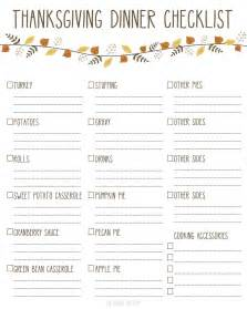 everything you need for thanksgiving dinner with printable checklist