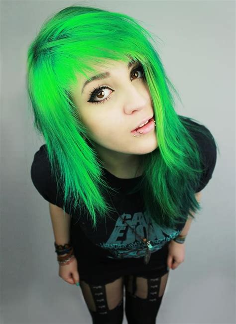 Neon Green💚💚💚 I Wish I Could Dye My Hair This Color