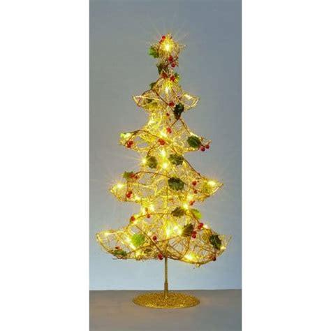 premier decorations warm white led christmas tree  gold