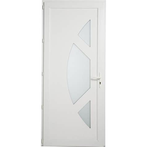 porte entree leroy merlin porte d entr 233 e pvc jersey artens poussant gauche h215 x l90 cm leroy merlin